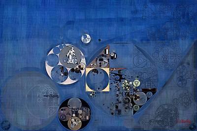 Fanciful Digital Art - Abstract Painting - Fun Blue by Vitaliy Gladkiy
