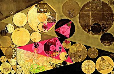Harvest Digital Art - Abstract Painting - Harvest Gold by Vitaliy Gladkiy