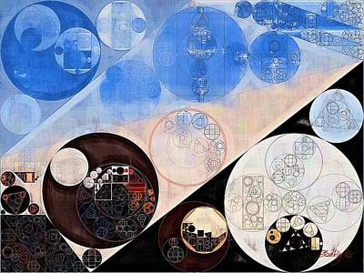 Light Paint Digital Art - Abstract Painting - Havelock Blue by Vitaliy Gladkiy