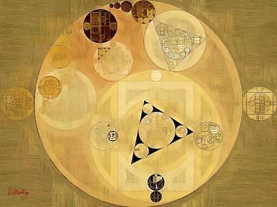 Abstract Painting - Indian Tan Art Print by Vitaliy Gladkiy