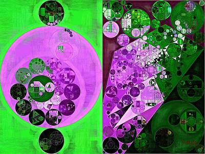 Fanciful Digital Art - Abstract Painting - Lavender Magenta by Vitaliy Gladkiy