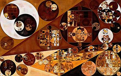 Abstract Forms Digital Art - Abstract Painting - Light Brown by Vitaliy Gladkiy
