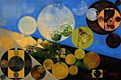 Feelings Digital Art - Abstract Painting - Lochmara by Vitaliy Gladkiy