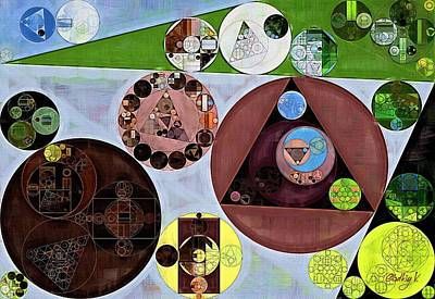 Abstract Forms Digital Art - Abstract Painting - Nebula by Vitaliy Gladkiy