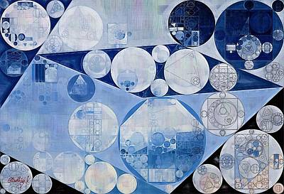 Spindle Digital Art - Abstract Painting - Oxford Blue by Vitaliy Gladkiy