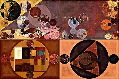 Fawn Digital Art - Abstract Painting - Peanut by Vitaliy Gladkiy
