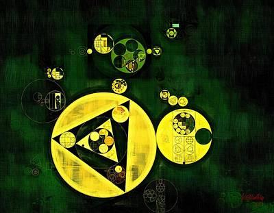 Golden Digital Art - Abstract Painting - Phthalo Green by Vitaliy Gladkiy