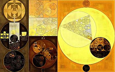 Ornamental Digital Art - Abstract Painting - Pirate Gold by Vitaliy Gladkiy
