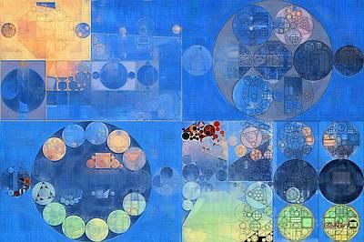 Green Geometry Art Digital Art - Abstract Painting - Resolution Blue by Vitaliy Gladkiy
