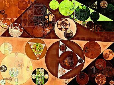 Ornamental Digital Art - Abstract Painting - Saddle Brown by Vitaliy Gladkiy