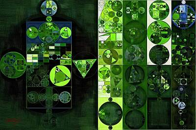 Pyramids Digital Art - Abstract Painting - Sap Green by Vitaliy Gladkiy