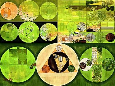 Abstract Painting - Turtle Green Print by Vitaliy Gladkiy