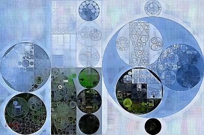 Swamp Digital Art - Abstract Painting - Wild Blue Yonder by Vitaliy Gladkiy