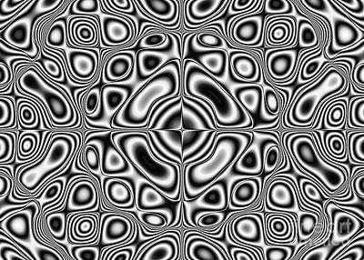 Pulsating Digital Art - Abstract Pattern - Kaleidoscopic Pattern by Michal Boubin