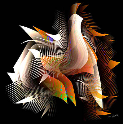 Digital Art - Abstract Peacock by Iris Gelbart