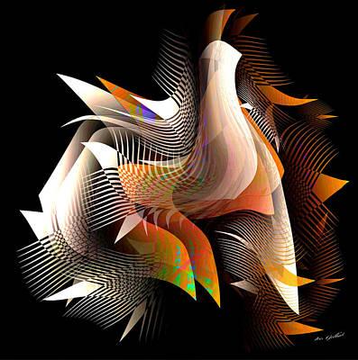 Digital Art - Abstract Peacock by Iris Gelbart