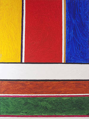 Abstract Shapes Painting - Abstract Rectangles 2  by Stormm Bradshaw