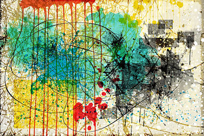 Painting - Abstract Splatter by Gary Grayson
