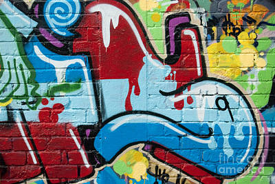 Vandalize Painting - Abstract Spray-paint On The Brick Wall by Yurix Sardinelly