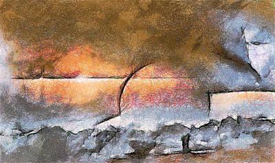 Digital Art - Abstract Sunrise by Mario Carini