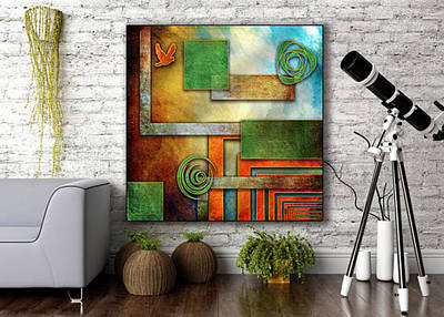 Digital Art - Abstraction 2 Canvas by Chuck Staley