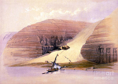 Photograph - Abu Simbel Temple, 1830s by Science Source