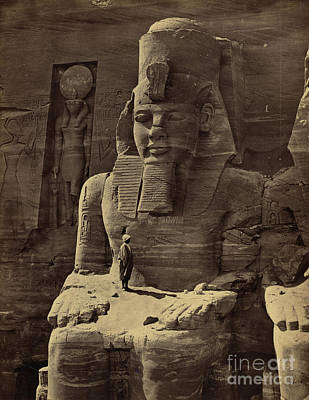 Abu Simbel Temple, 1850s Art Print by Science Source