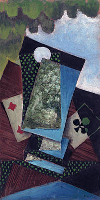 Painting - Ace Of Clubs And Four Of Diamonds by Juan Gris