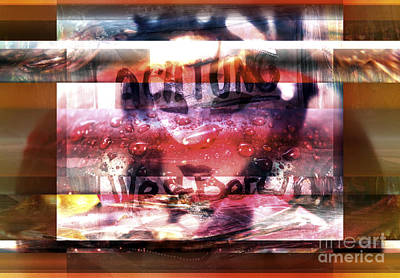 Abstract Sights Digital Art - Achtung by John Rizzuto