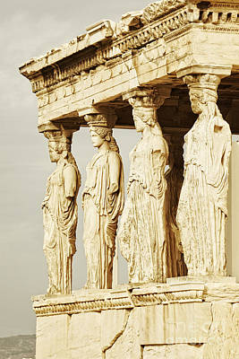 Acropolis Of Athens Art Print by HD Connelly