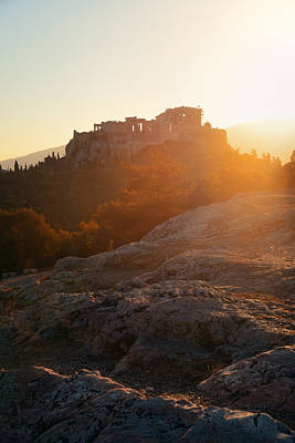 Photograph - Acropolis Sunrise by Songquan Deng