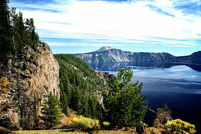 Photograph - Across Crater Lake by Frank Wilson