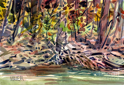 Across The Creek Art Print by Donald Maier
