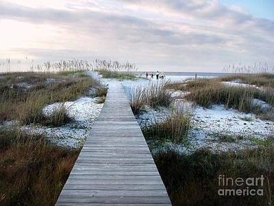 Across The Dunes Art Print by Julie Dant