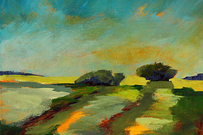 Painting - Across The Field by Nancy Merkle