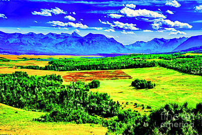 Digital Art - Across The Green Plain by Rick Bragan