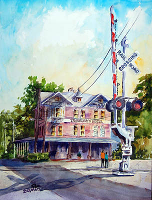 Across The Tracks Art Print by Ron Stephens