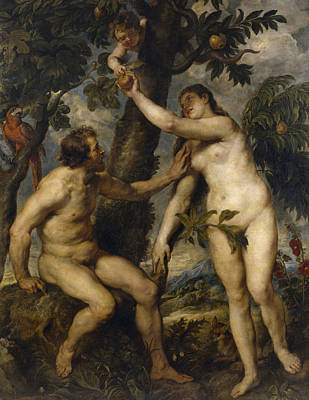 Adam And Eve Painting - Adam And Eve by Rubens