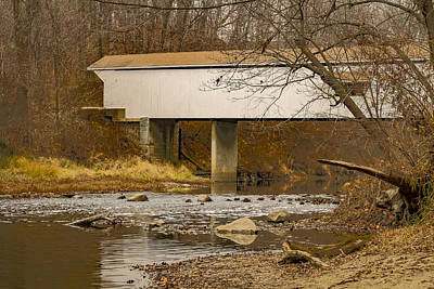 Photograph - Adams Mill Covered Bridge by Jack R Perry