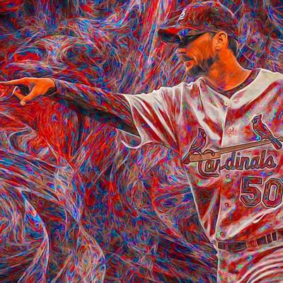Baseball Wall Art - Photograph - #adamwainwright #50 #cardinals by David Haskett II