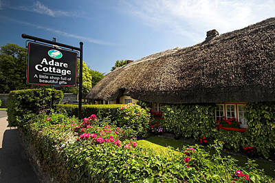Adare Thatch Roof Cottages Ireland Art Print by Pierre Leclerc Photography