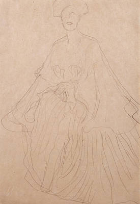 Adele Drawing - Adele Bloch Bauer by Gustav Klimt