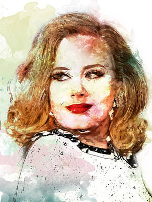 Adele Digital Art - Adele by Elena Kosvincheva