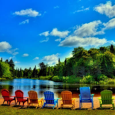 Adirondack Calm Art Print by David Patterson