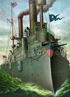 Shipped Mixed Media - Admiral Dewey's Flagship Olympia by War Is Hell Store