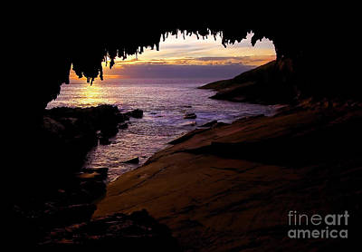 Admiral's  Arch Sunset Art Print by Mike Dawson