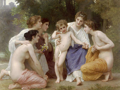 Painting - Admiration by William-Adolphe Bouguereau