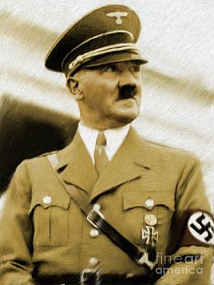 Adolf Painting - Adolf Hitler, Leaders Of Wwii Series.  by Esoterica Art Agency