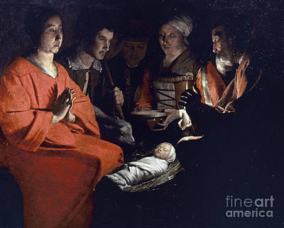 Photograph - Adoration Of Shepherds by Granger
