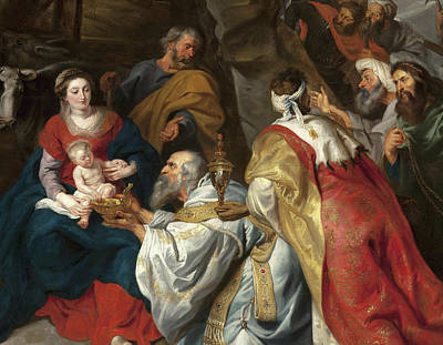 Adoration Painting - Adoration Of The Magi by Peter Paul Rubens